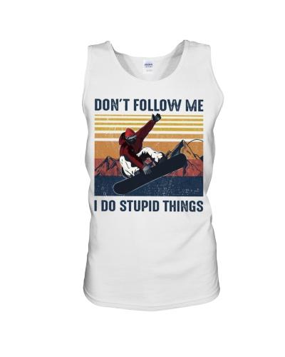Snowboarding Don't Follow me