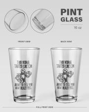 This Vodka Tastes Like I'm 16oz Pint Glass aos-16oz-pint-glass-lifestyle-front-21