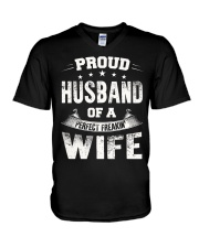 Proud Husband  V-Neck T-Shirt thumbnail