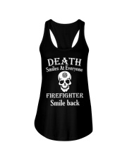 Death smiles at everyone Ladies Flowy Tank front