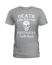 Death smiles at everyone Ladies T-Shirt tile
