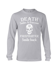 Death smiles at everyone Long Sleeve Tee tile