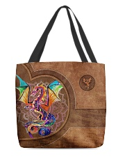 Dragon Print All-over Tote back