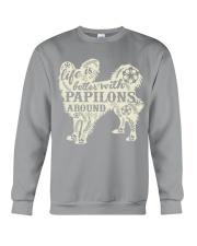 Life is better with papilons around Crewneck Sweatshirt thumbnail