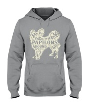 Life is better with papilons around Hooded Sweatshirt thumbnail