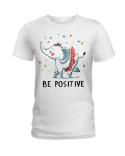 Be Positive Ladies T-Shirt front