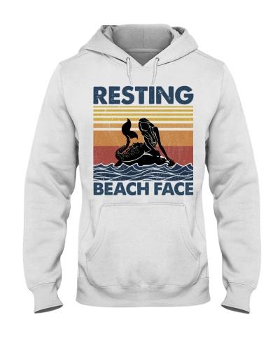 Mermaid Resting Beach Face