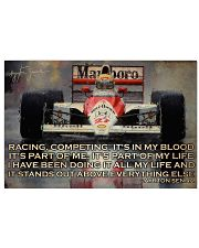 Racing Competing It's In My Blood 24x16 Poster front