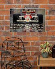 Racing Competing It's In My Blood 24x16 Poster poster-landscape-24x16-lifestyle-24