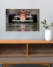 Racing Competing It's In My Blood 24x16 Poster poster-landscape-24x16-lifestyle-25