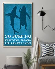 Surfing Shark Kills You 16x24 Poster lifestyle-poster-1