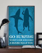 Surfing Shark Kills You 16x24 Poster lifestyle-poster-2