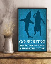 Surfing Shark Kills You 16x24 Poster lifestyle-poster-3