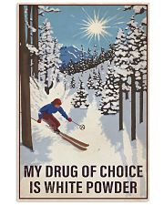 Skiing My Drug Of Choice 16x24 Poster front