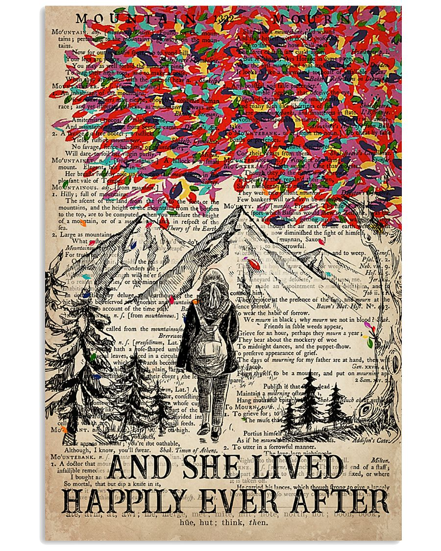 Hiking And She Lived Happily Ever After 16x24 Poster