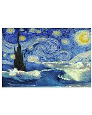 Surfing Starry Night 36x24 Poster front