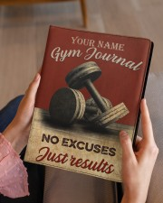 Gym Journal Medium - Leather Notebook aos-medium-leather-notebook-lifestyle-front-07