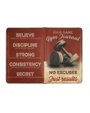 Gym Journal Medium - Leather Notebook full