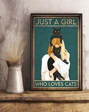 Cat Just A Girl 16x24 Poster lifestyle-poster-3