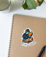 Book Dragon Sticker - Single (Vertical) aos-sticker-single-vertical-lifestyle-front-16