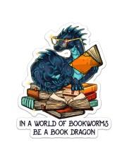 Book Dragon Sticker - Single (Vertical) front