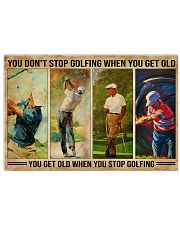 Golf You Don't Stop Golfing 36x24 Poster front