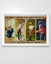 Golf You Don't Stop Golfing 36x24 Poster poster-landscape-36x24-lifestyle-02