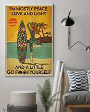 Surfing Peace Love And Light 16x24 Poster lifestyle-poster-1