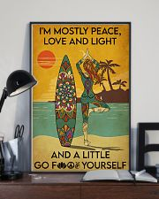 Surfing Peace Love And Light 16x24 Poster lifestyle-poster-2