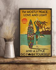 Surfing Peace Love And Light 16x24 Poster lifestyle-poster-3