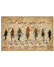Running God Says You Are 36x24 Poster front