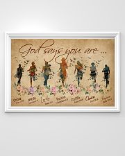 Running God Says You Are 36x24 Poster poster-landscape-36x24-lifestyle-02