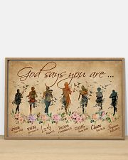 Running God Says You Are 36x24 Poster poster-landscape-36x24-lifestyle-03