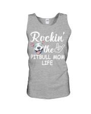 pitbull mom life Unisex Tank thumbnail