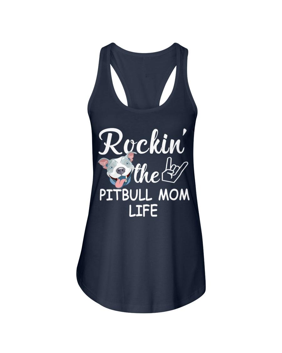 pitbull mom life Ladies Flowy Tank