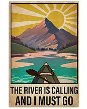 Kayaking The River Is Calling 16x24 Poster front