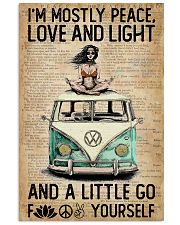 Hippie Peace Love And Light 16x24 Poster front