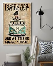 Hippie Peace Love And Light 16x24 Poster lifestyle-poster-1