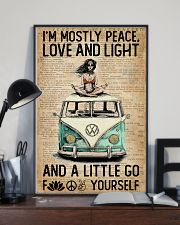 Hippie Peace Love And Light 16x24 Poster lifestyle-poster-2