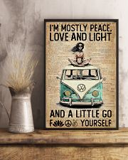 Hippie Peace Love And Light 16x24 Poster lifestyle-poster-3