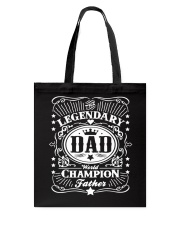 Legendary Dad Tote Bag thumbnail