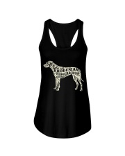 Life is better with rhodesian ridgebacks around Ladies Flowy Tank front