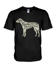 Life is better with rhodesian ridgebacks around V-Neck T-Shirt thumbnail