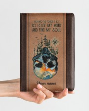 And Into The Forest I Go To Lose My Mind Medium - Leather Notebook aos-medium-leather-notebook-lifestyle-front-01
