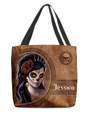 Skull Girl Leather Pattern Print All-over Tote front