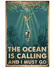 Scuba The Ocean Is Calling 16x24 Poster front