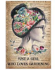 Garden Just A Girl 16x24 Poster front