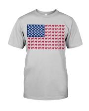 shiba inu flag Classic T-Shirt thumbnail