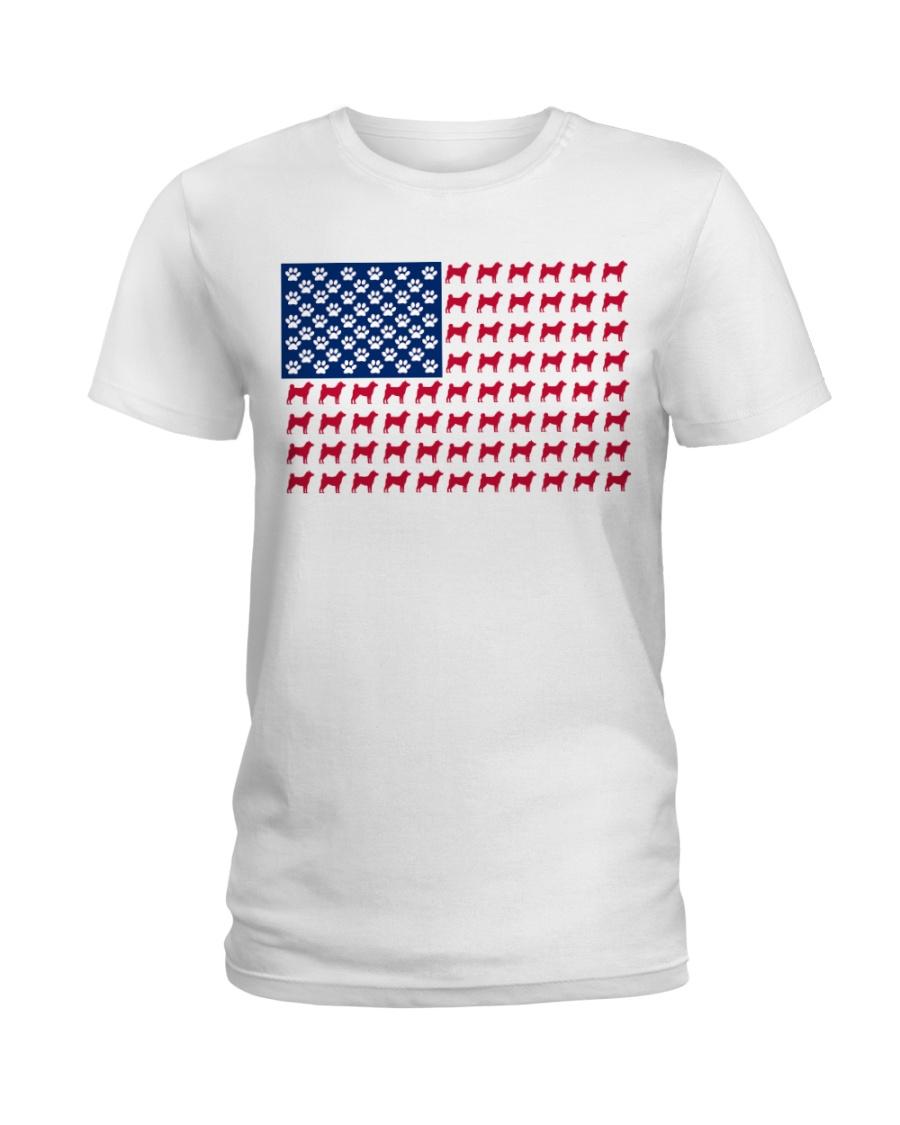 shiba inu flag Ladies T-Shirt