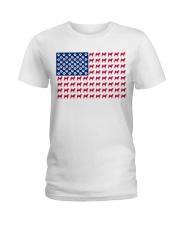 shiba inu flag Ladies T-Shirt front